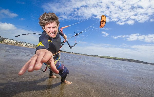 Pictured at the launch of the 2015 Irish Kite Surfing Championships and Hooked Kite Fest on Duncannon Beach, Co Wexford is Organiser and Kite-surf Instructor Niall Roche. Picture: Patrick Browne