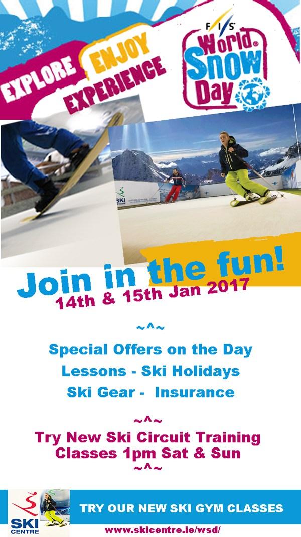 WORLD SNOW DAY Sandyford Ski Centre
