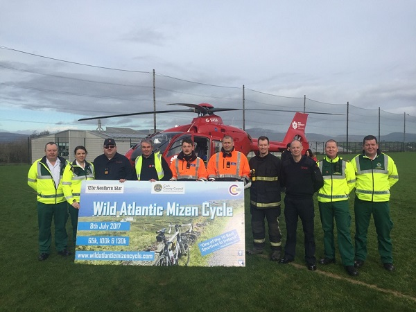 The Irish Community Air Ambulance is one of the selected charties for this year's Wild Atlantic Mizen Cycle