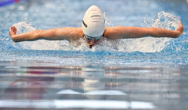 26 July 2017; Team Ireland's Julia Knox, from Banbridge, Co. Down, competing in the Womens 200m medley heat 3, during the European Youth Olympic Festival 2017 at Olympic Park in Gyor, Hungary. Photo by Eóin Noonan/Sportsfile