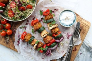 Satay Tofu & Veggie Skewers gosh vegetarian recipe