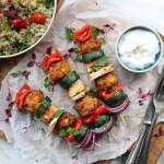 Satay Tofu & Veggie Skewers gosh vegetarian recipe