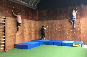 Anna Syme Stables climbing wall