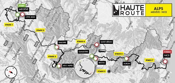 Haute Route Alps_Course Map
