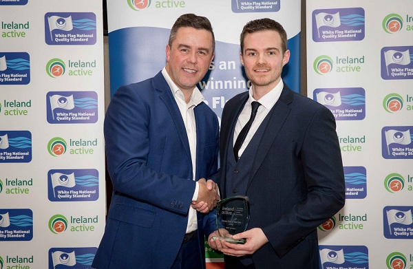 WIT Arena has been awarded the Gold Standard Award for Fitness Facilities and has also taken the overall Best Fitness facility in Ireland Award; accepting the awards on behalf of the WIT Arena is Aaron Grant Arena Gym and Membership Manager Photo: ©INPHO/Morgan Treacy