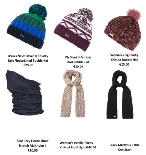 Regatta Great Outdoors ski hats and scarves