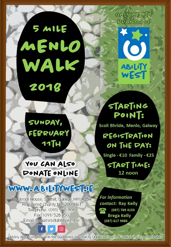 Walk with Ability West  Annual Menlo community walk 11 years on the road