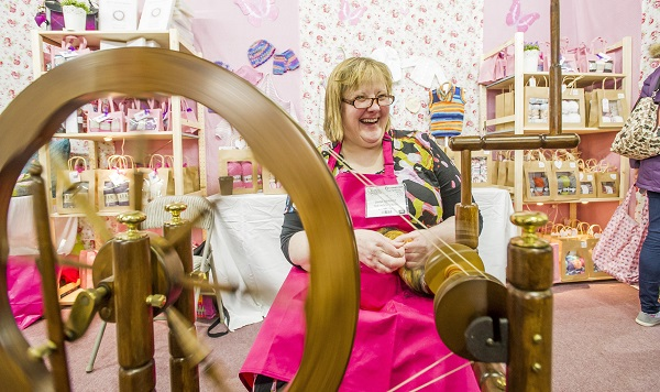 Creative activities help us relax and unwind, focus on producing something and can even offer the chance to spend more time with loved ones being creative together. Knitting and Sewing Show, Edinburgh<br /> PHOTOGRAPHS BY: ALAN PEEBLES