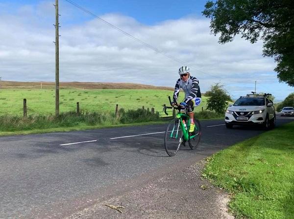 Pierre Bischoff leading Race Around Ireland on Tuesday