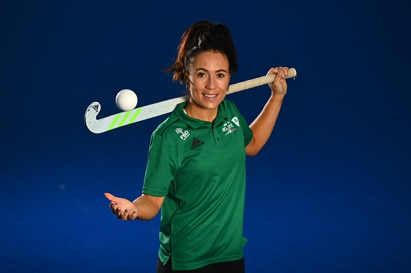 14 November 2020; Team Ireland hockey player Anna O'Flanagan pictured at the Sport Ireland Campus in Abbotstown, Dublin. Photo by Eóin Noonan/Sportsfile