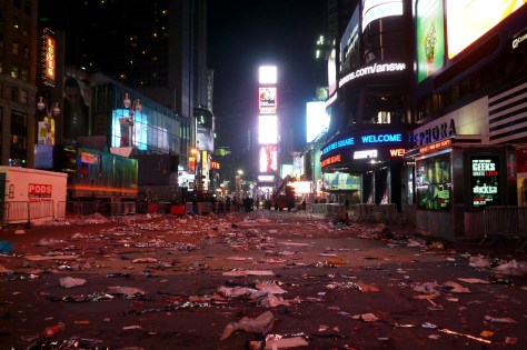 New Year's Eve at Times Square - The Aftermath