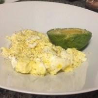 Scambled eggs & Avocado