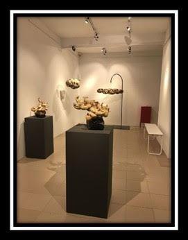 Wooden sculpture show at Taipa Village Art Space