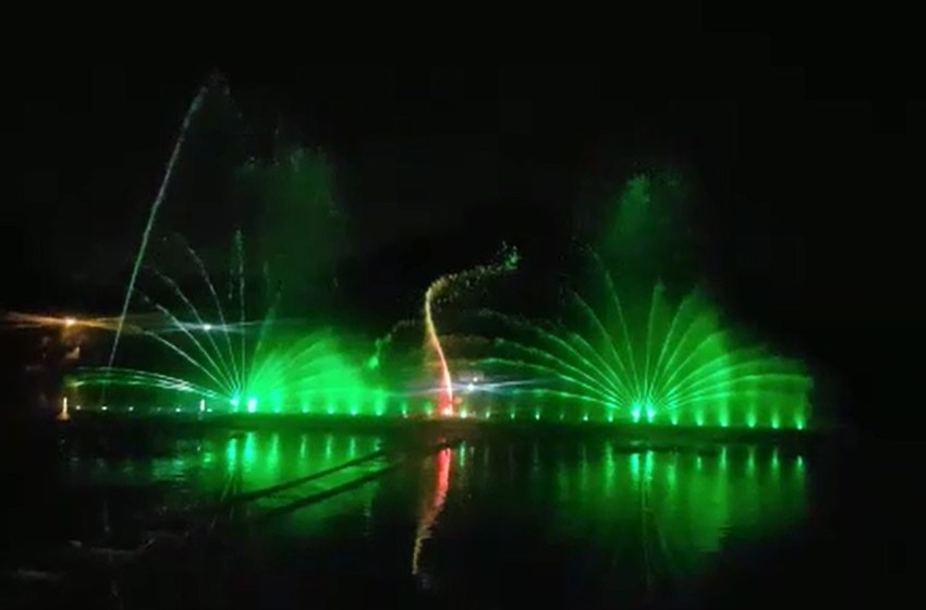 Now enjoy first water screen projection sound and light show at Tilyar Lake