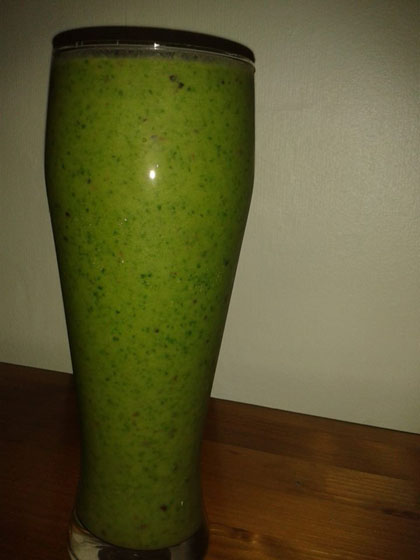Spinach, Apple, Grapes, Avocado, Greek yoghurt, Lime juice