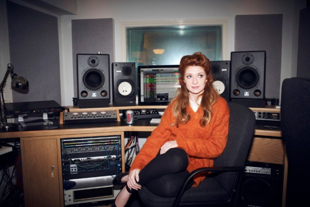 Nicola Roberts having a well earned Diet Coke. This up-close-and-personal shot will be auctioned on eBay from 5th November.