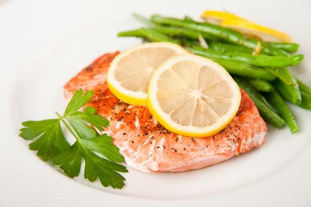 Grilled salmon & Veg