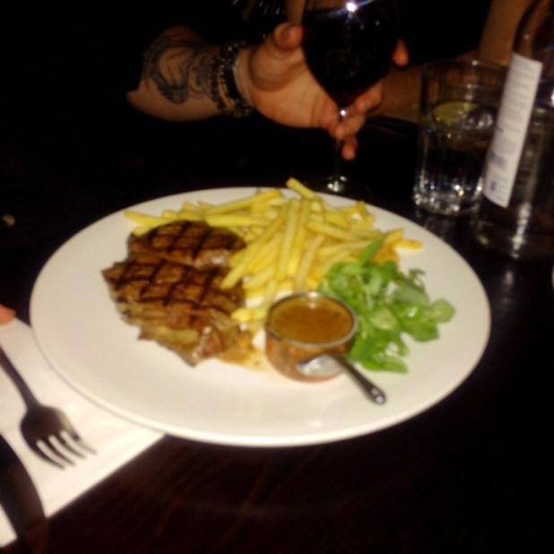 Steak at cafe Rouge
