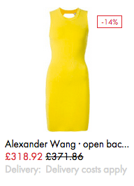 Alexander Wang open back dress