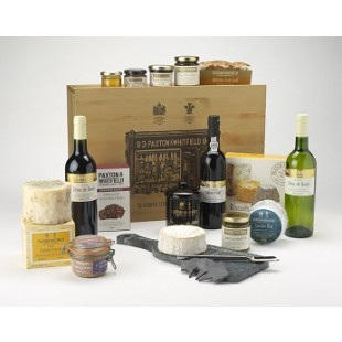www.Lifeandsoullifestyle.com - Festive Hampers - Paxton & Whitfield - The Gourmet with Wine