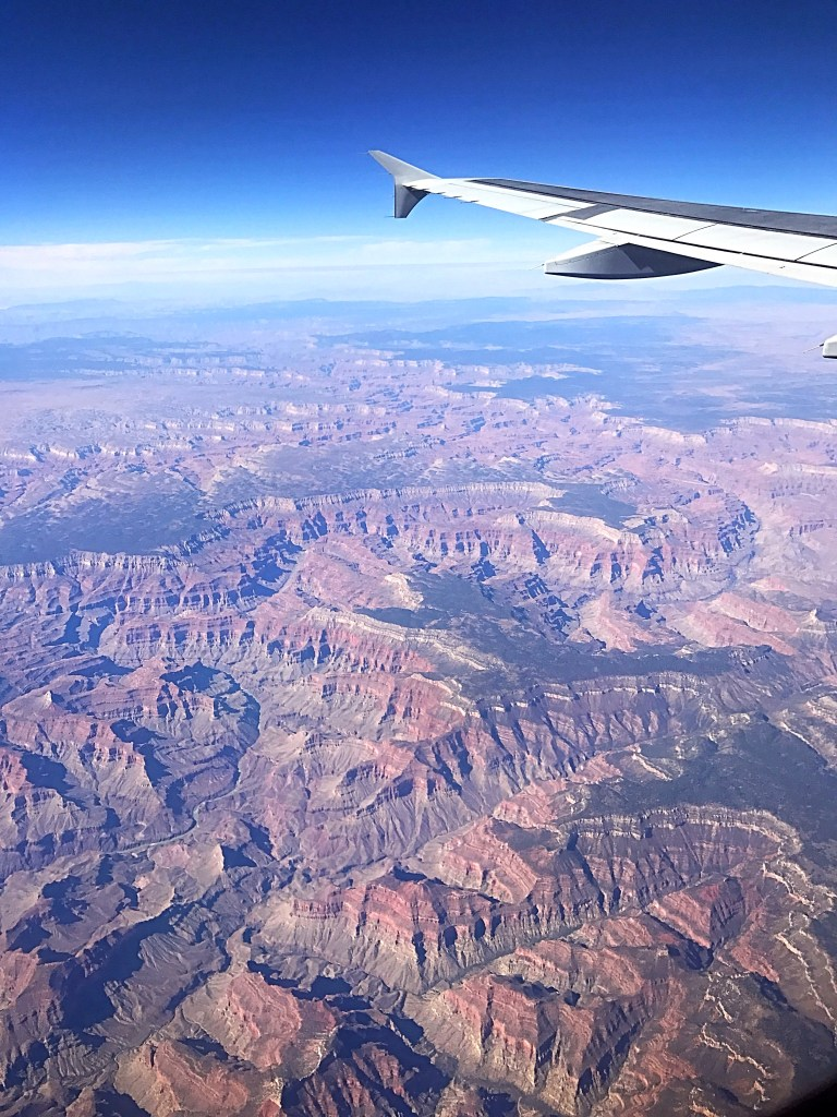 Flying over the Grand Canyon