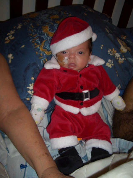 Like Stella, Diego had a Merry first Christmas--even with the NG tube.