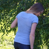 Dahlia Top Free Crochet Pattern by Life and Yarn