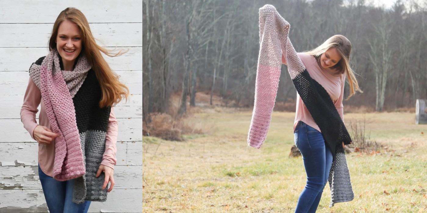 Oversized Crochet Scarf