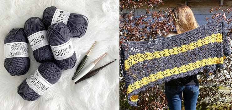 Striped Crochet Shawl Pattern