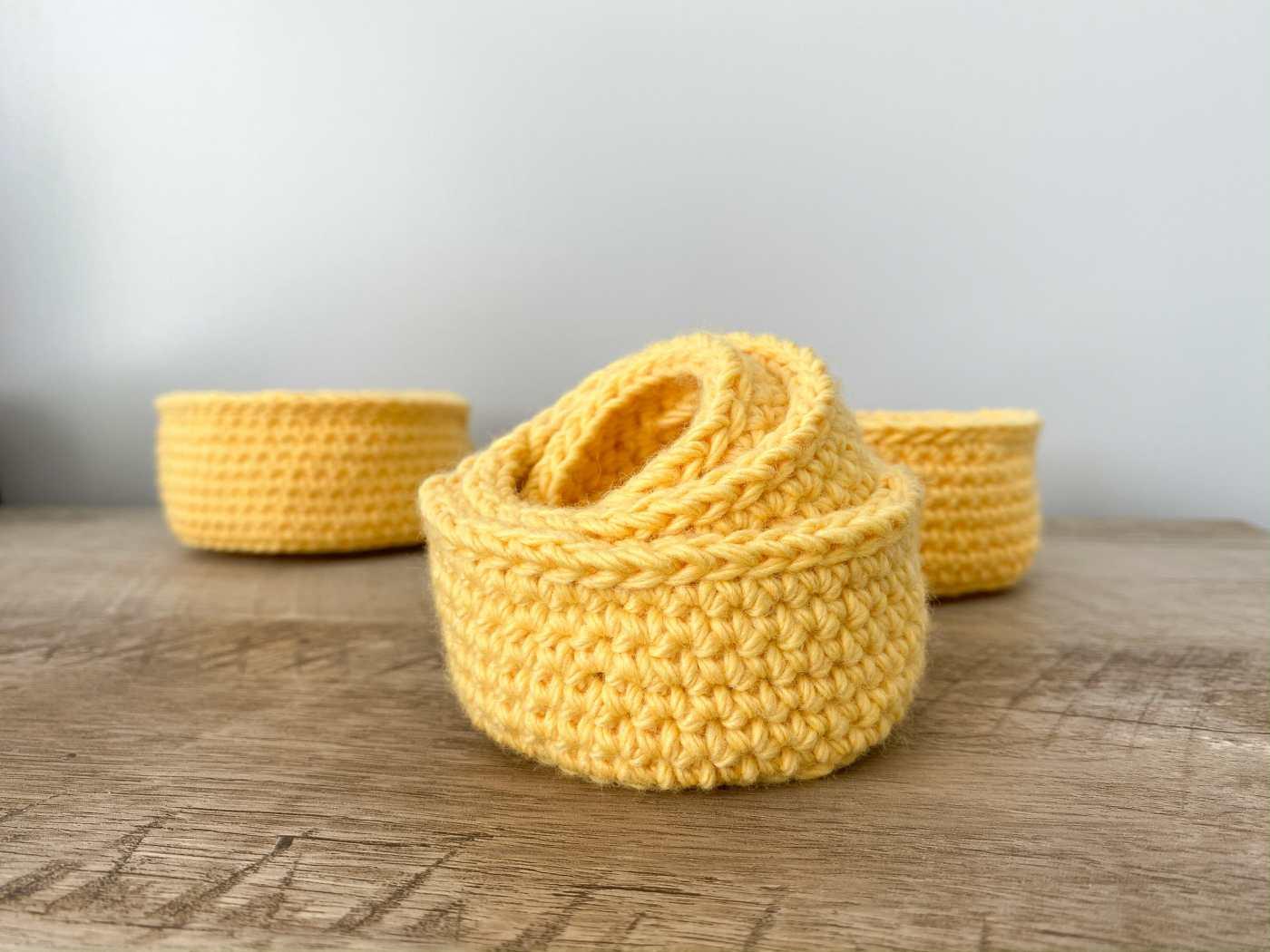 How To Crochet Mini Nesting Baskets