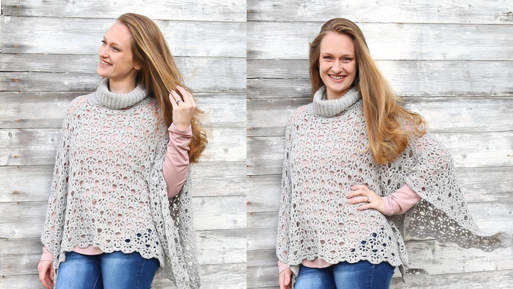 lacy crochet poncho