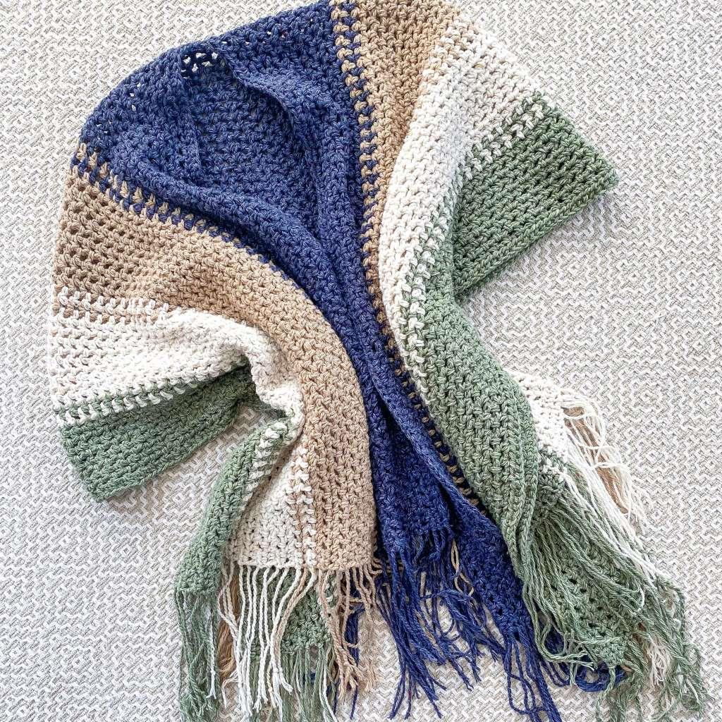 easy crochet pattern for a open front crochet poncho