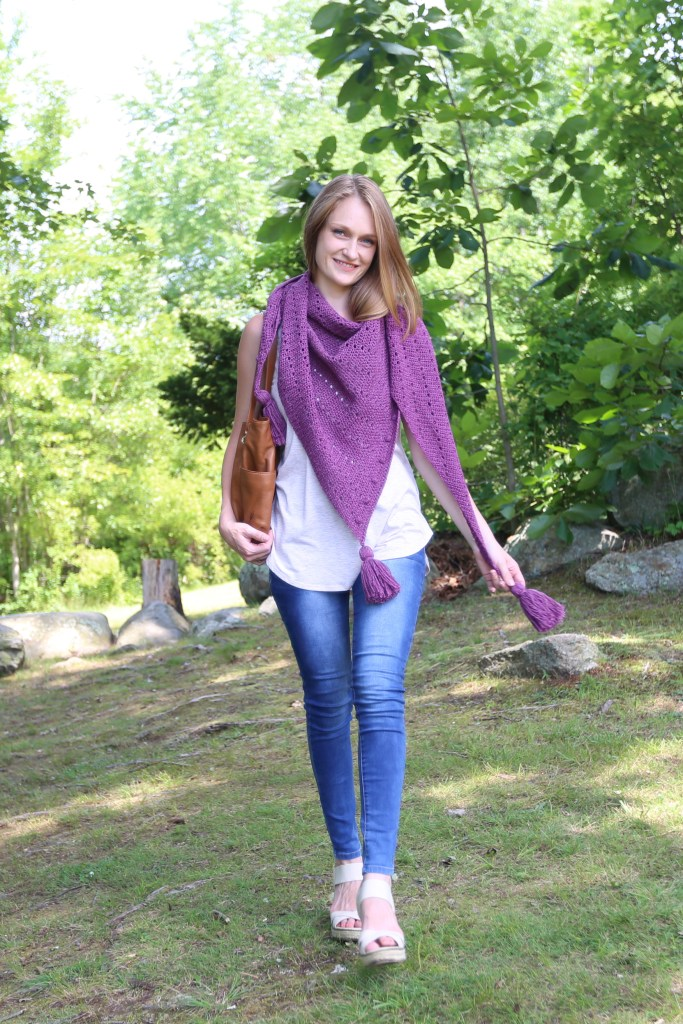 Simple Asymmetrical Triangle Scarf