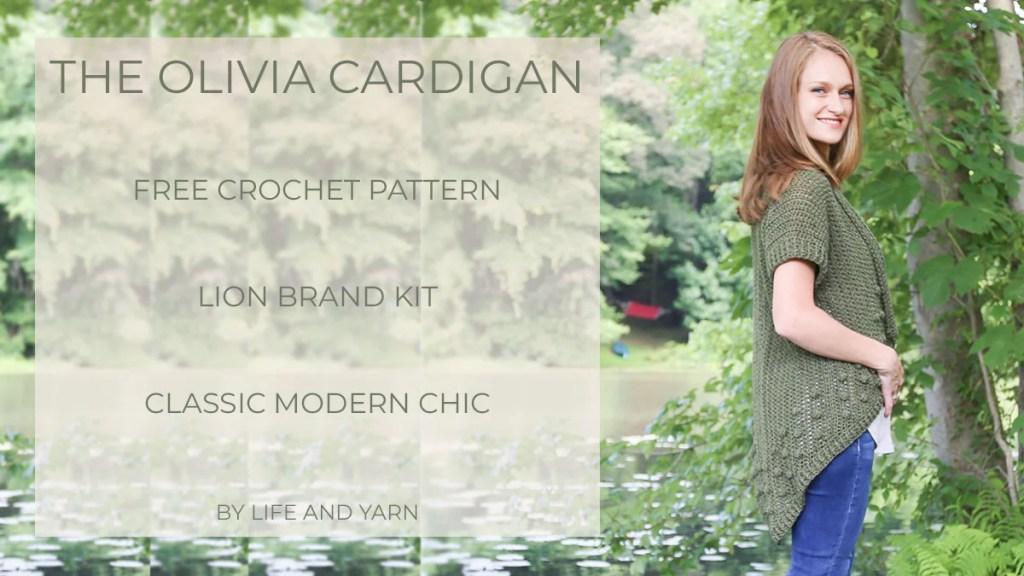 Lightweight crochet cardigan to make with Merino Silk Cotton Blended Yarn!