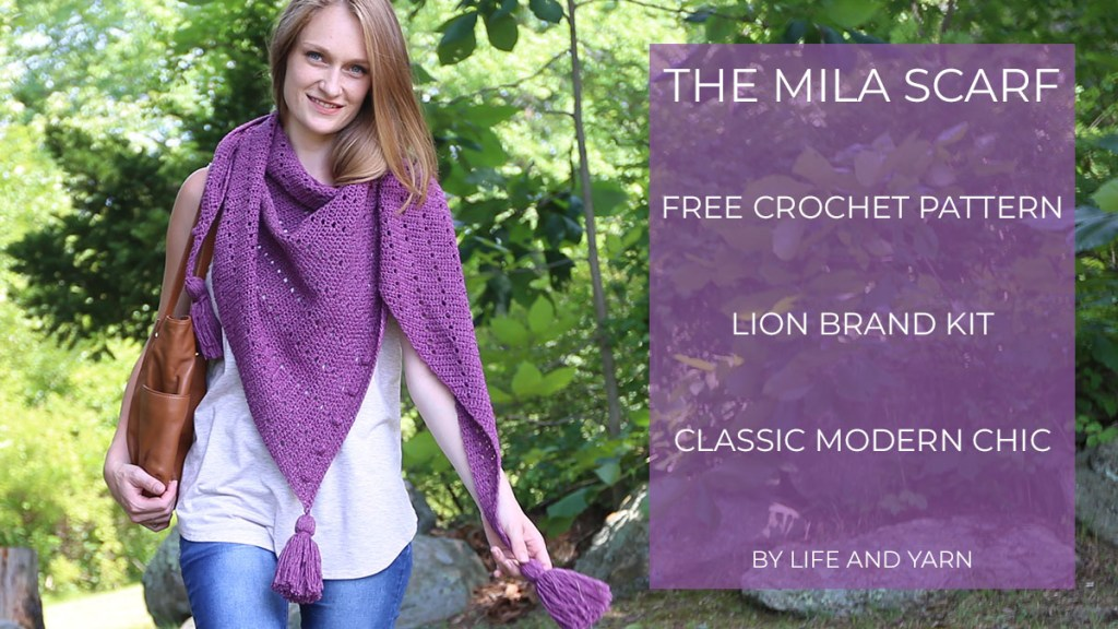 A lightweight crochet scarf made with #1 weight yarn.