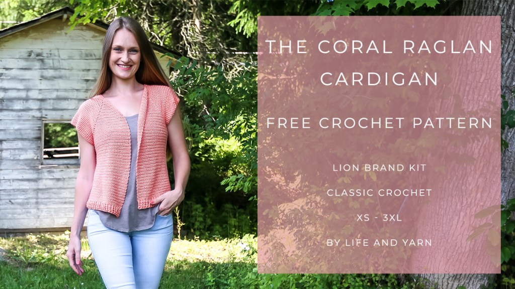 A Free Simple Crochet Raglan Cardigan Pattern