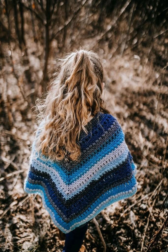 kids crochet poncho.