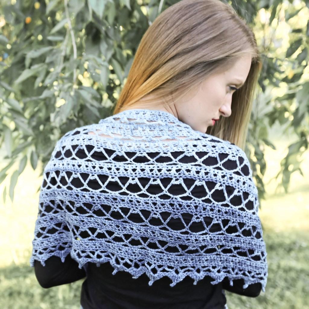 Free Lacy Crochet Shawl Pattern.