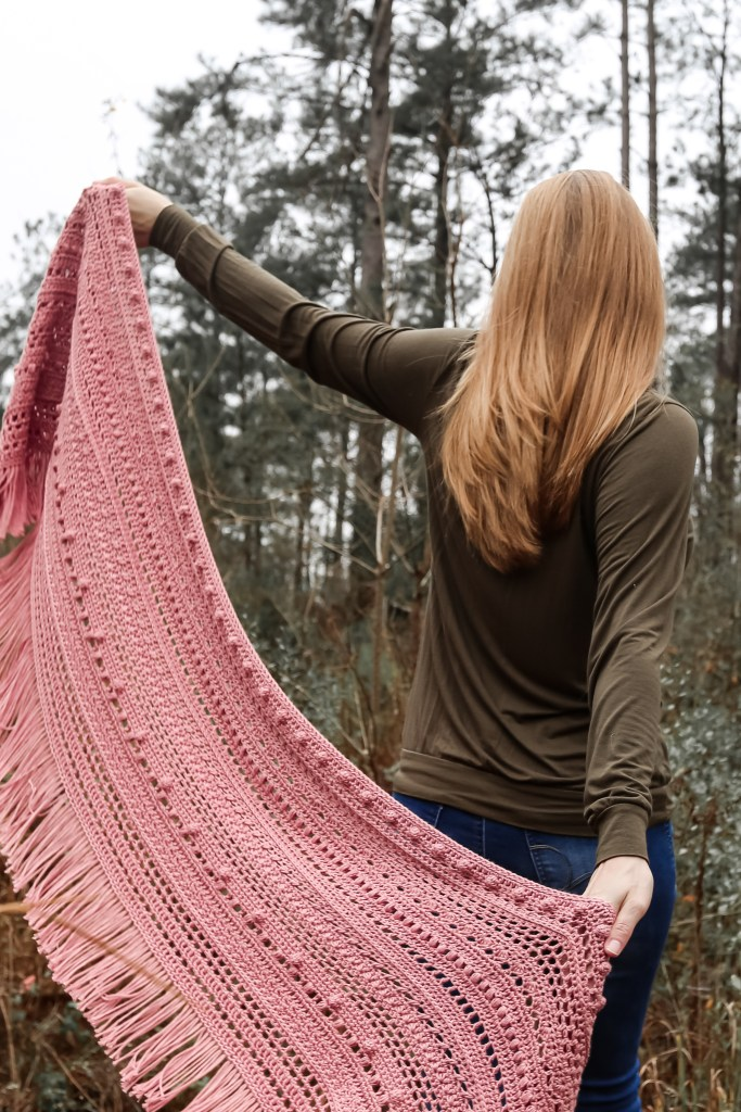 Stunning modern crochet shawl