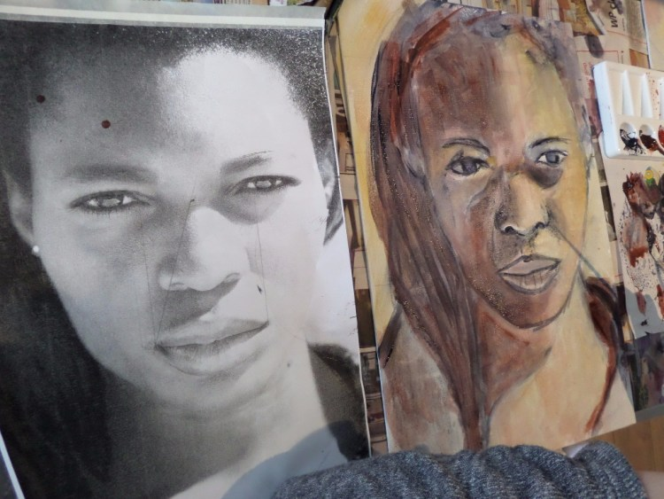 Lifeartschool.co.za / Art workshop at Angala Boutique  Hotel, Franschoek with Leonie.e.Brown ARTist / lifeart.co.za