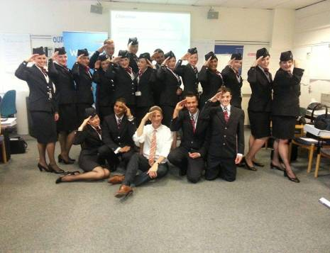 Group picture Cabin Crew training