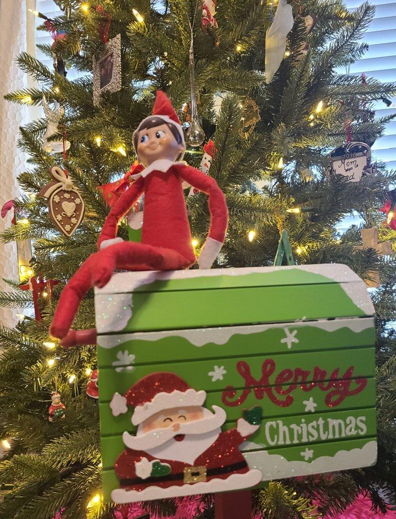 Elf on the Shelf Elfis delivering the letter from Santa.