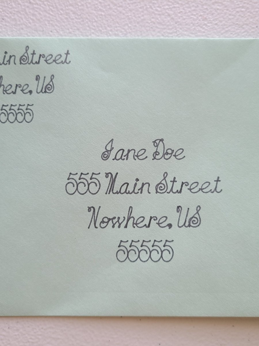 address envelopes with a Cricut