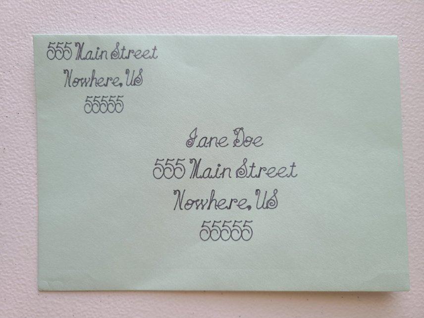address envelopes with a Cricut