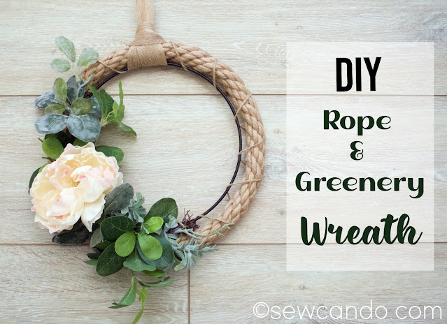 Traffic Jam Weekend feature Sew Can Do Rope Plant Wreath Main Wood