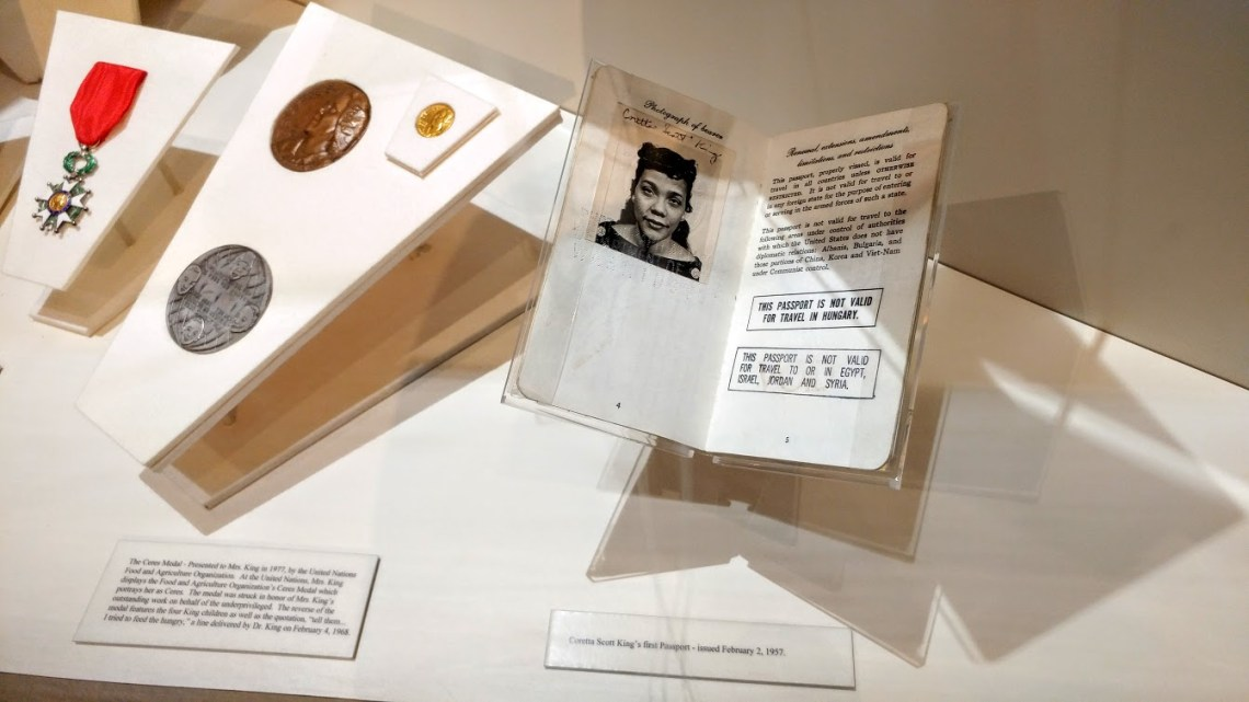 Coretta Scott King - Passport & Medals