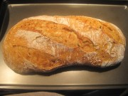 this is the final loaf :) mind the irregular shape. What a beautiful loaf Iit has been. I am so lucky :)