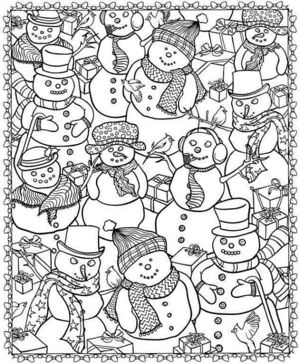 adult christmas coloring pages # 29