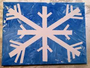 Snowflake Finger Painting