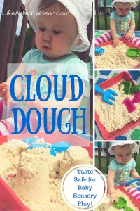 Taste Safe Cloud Dough for Baby Sensory Play